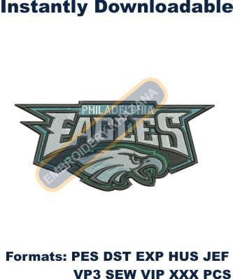 Philadelphia Eagles logo embroidery design
