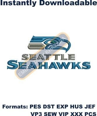 Seattle Seahawks Logo embroidery design