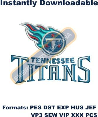 Tennessee Titans logo embroidery design