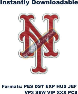 NEW YORK METS LOGO EMBROIDERY DESIGN