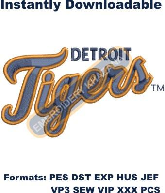 detroit tigers logo embroidery design