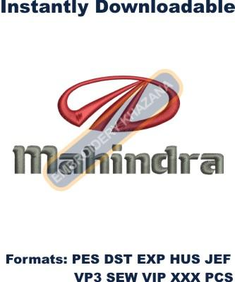 Mahindra car Logo embroidery design