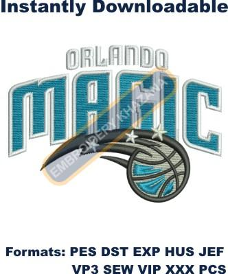 Orlando magic logo embroidery design