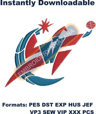 washington wizards logo embroidery design