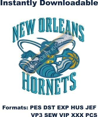 new orleans hornets logo embroidery design