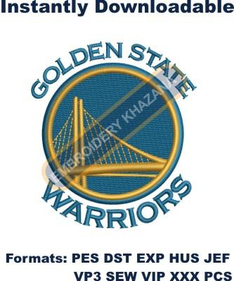 golden state warriors hat embroidery design