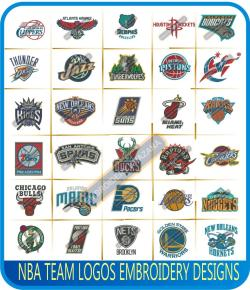 NBA Teams Logos Embroidery Designs