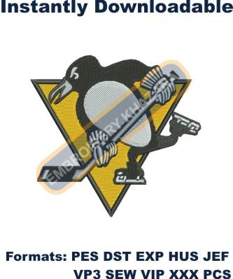 pittsburgh penguins logo embroidery design