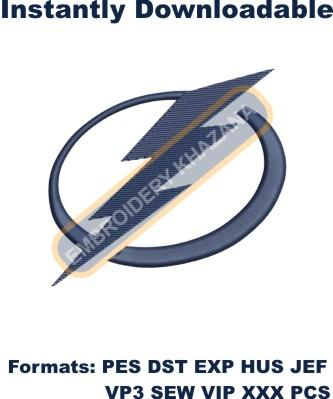 tampa bay lightning logo embroidery design