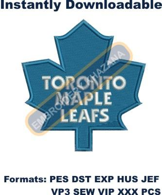 toronto maple leafs logo embroidery design