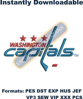 washington capitals logo embroidery design