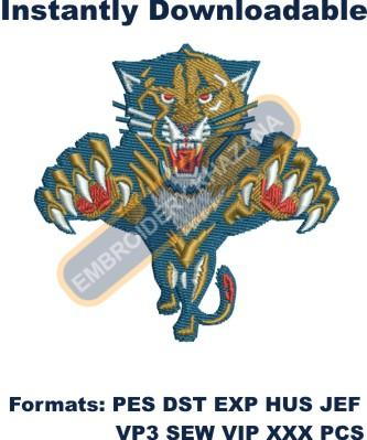florida panthers logo embroidery design