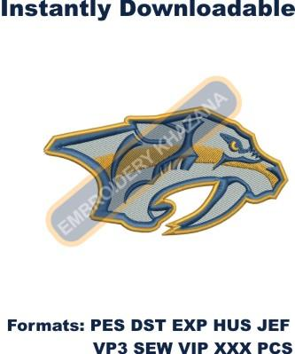 Nashville Predators logo embroidery design