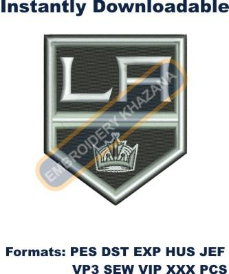 Los Angeles Kings logo embroidery design