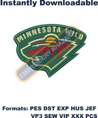 Minnesota Wild logo embroidery design