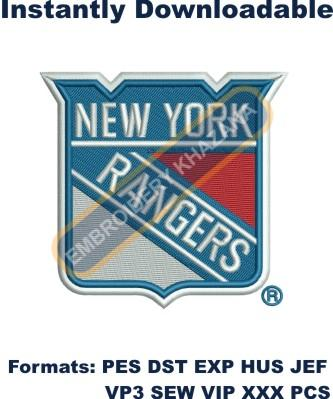 new york rangers logo embroidery design