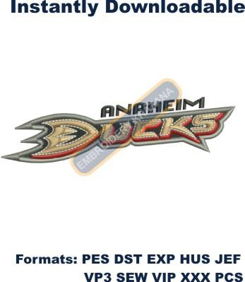 Anaheim Ducks logo embroidery design