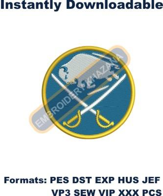 buffalo sabres logo embroidery design