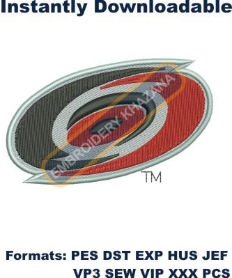 carolina hurricanes logo embroidery design