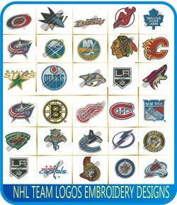 NHL Teams Logos Embroidery Designs
