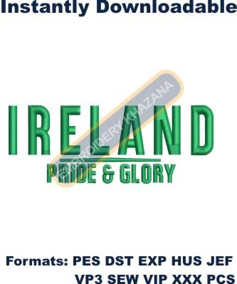 Ireland pride embroidery designs