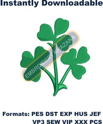 shamrock instant machine embroidery design