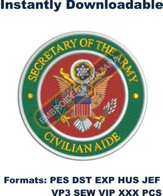 Civilian Aides embroidery design