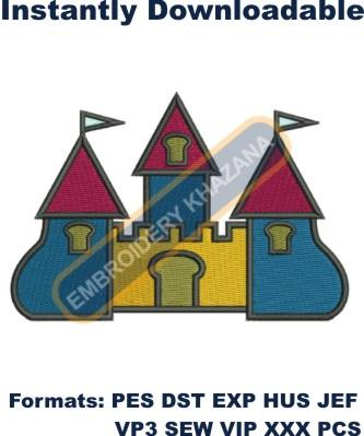 bouncy castle embroidery design