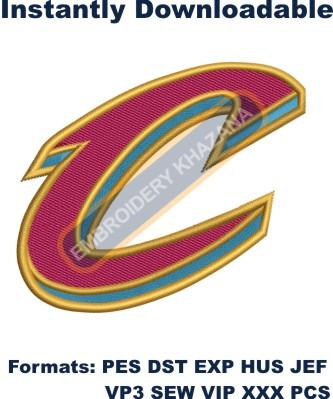 Cavaliers Logo embroidery design