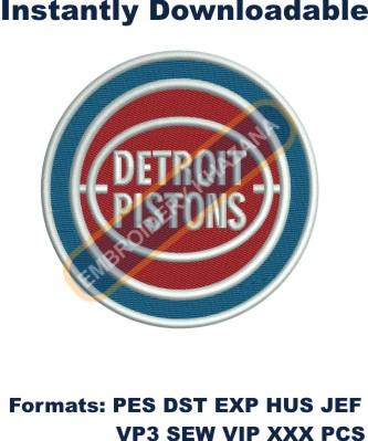 Detroit Pistons logo embroidery design