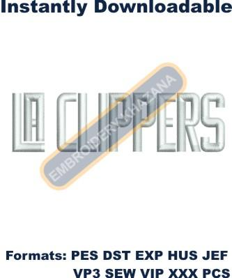 la clipper logo embroidery design