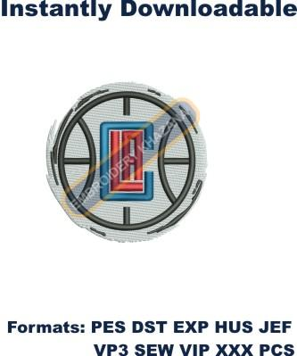 Los angeles clippers logo embroidery design