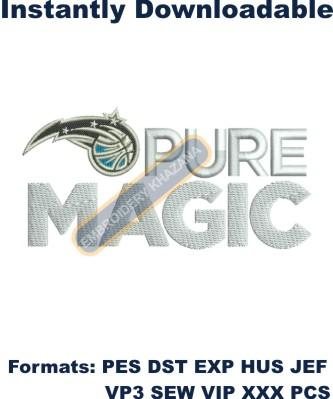 Pure Magic logo embroidery design