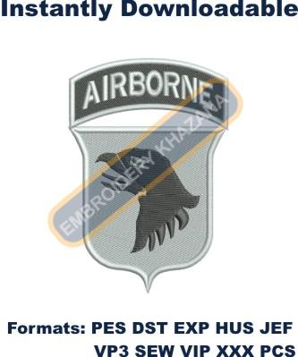101st airborne embroidery design