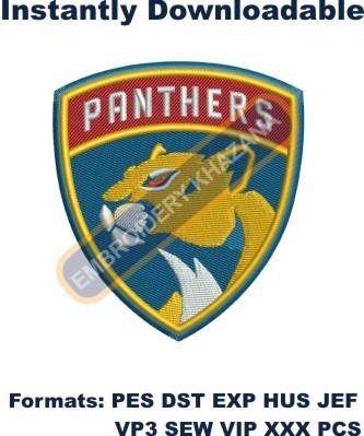 Panthers Logo instant embroidery design