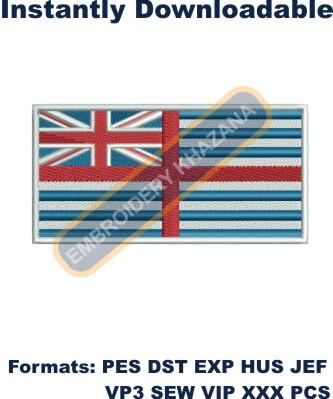 van diemens land flag embroidery design