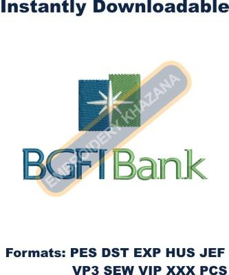 BGFI bank embroidery design