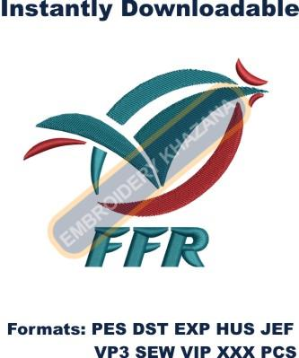 France Rugby Federation Logo Embroidery Designs
