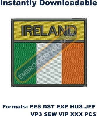 Irish Flag embroidery design