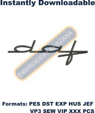 Daf Logo embroidery design