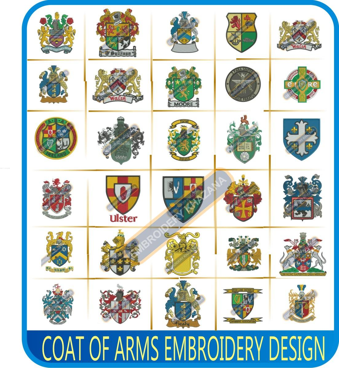 Coat of arms Embroidery Designs