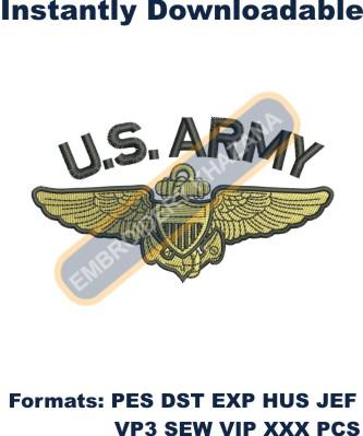US Army embroidery design