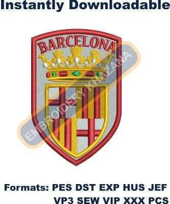 barcelona coat of arms embroidery design