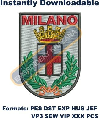milano coat of arms embroidery design