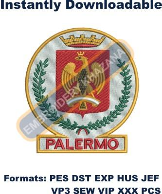 palermo coat of arms embroidery design