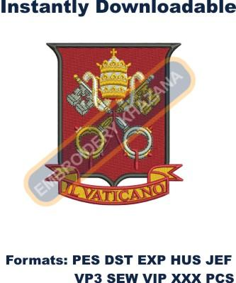 vatican coat of arms embroidery design