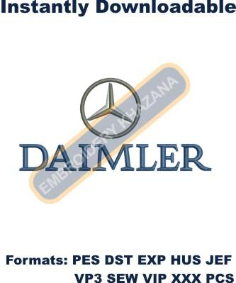 Daimler Mercedes logo embroidery design