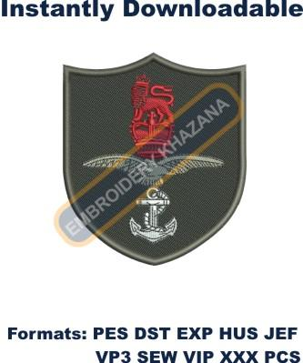 Combined Services blazer badge embroidery design