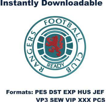 Glasgow Rangers fc logo embroidery design