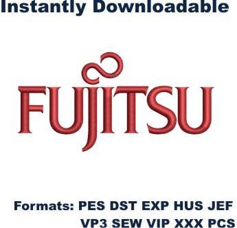 fujitsu logo embroidery design